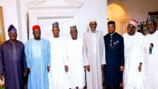 Buhari and 7 governors Photo
