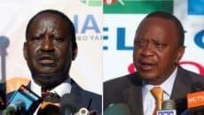 Raila Odinga and Uhuru Kenyatta Photo