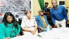 Hon. Rita Orji, Mrs Sadat Hassan,Femi Awoniyi, Hon. Keneth Gbandi