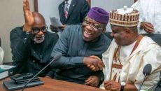 Kayode Fayemi, Tambuwal and Akeredolu Photo