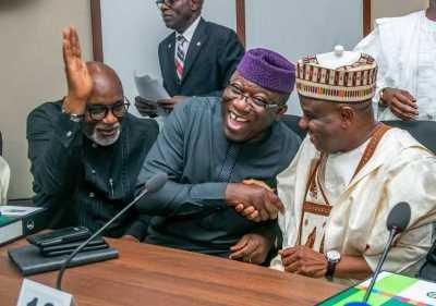 Kayode Fayemi, Tambuwal and Akeredolu Photo