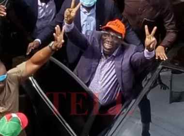 The Governor of Edo State, Godwin Obaseki arrived the State Secretariat of the People's Democratic Party, PDP, to a rousing welcome at 2.15 pm on Friday to formally join the party following his resignation from the ruling All Progressives Congress, APC. Photo
