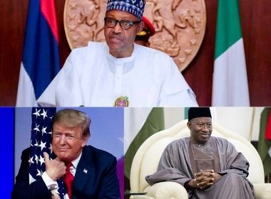 Muhammadu Buhari, Donald Trump and Goodluck Jonathan Photo