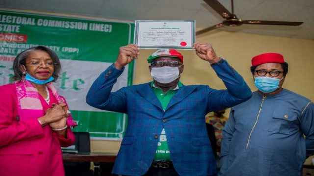 obaseki receives INEC's Certificate of Return photo