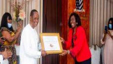 Captain Hosa receiving his Forbes Award