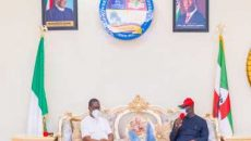 Godwin Obaseki visit to Ifeanyi Arthur Okowa photo