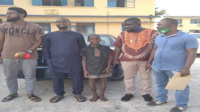 """Gift Osayuhi, the """"IGP"""", with members of the Talakawa Parliament after his release photo"""