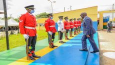Pictures of Obaseki's visit to Police Headquarters