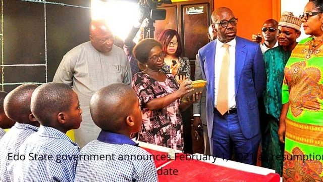 Edo State government announces February 1, 2021 as resumption date photo