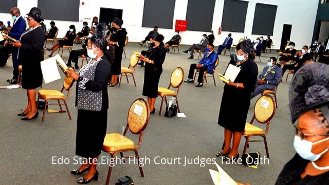 Eight High Court Judges Take Oath in Edo State.