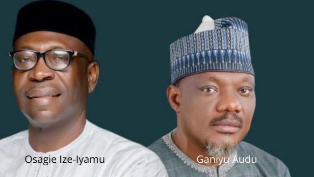 Osagie Ize-Iyamu and Ganiyu Audu Photo