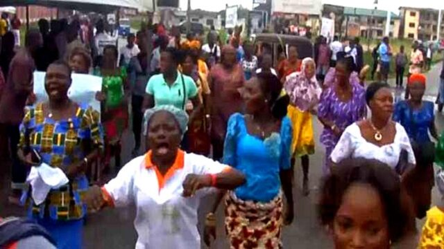 Itsekiri People, marched on the Zone 5 Headquaters office of the Assistant Inspector General of Police in Benin City
