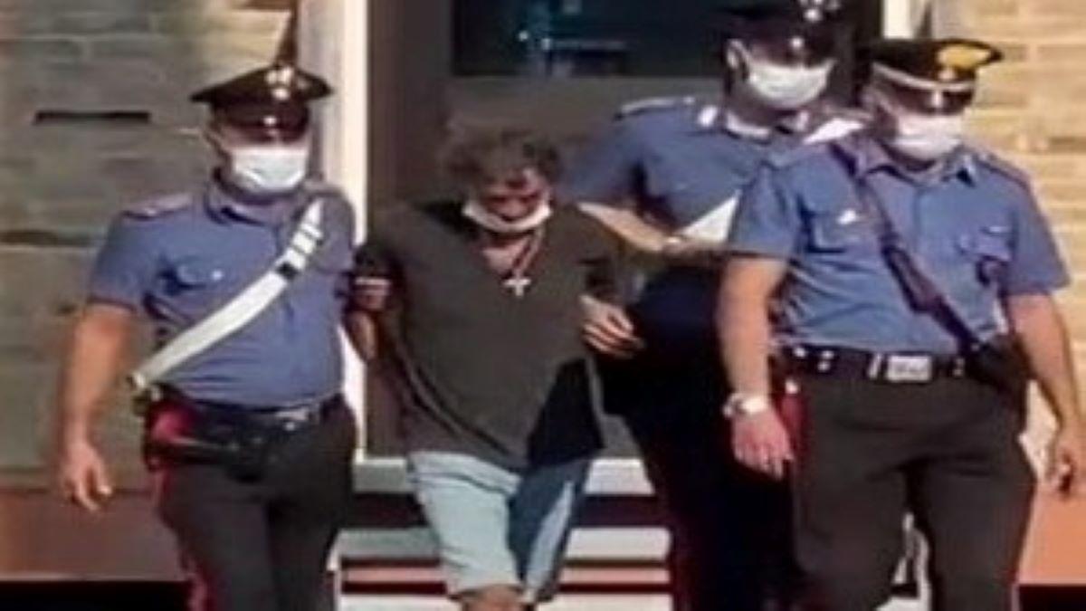 Pierangelo Pellizar Rita's Italian Husband Being arrested by the police.